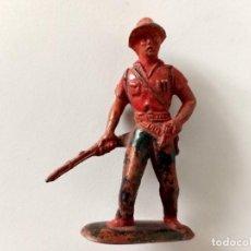 Figuras de Goma y PVC: FIGURA CAZADOR SAFARI MAIRZA GOMA. Lote 267497824