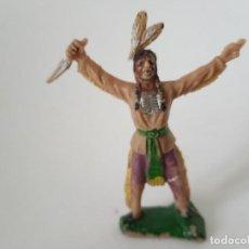 Figuras de Borracha e PVC: FIGURA INDIO JECSAN AÑOS 60. Lote 267499359