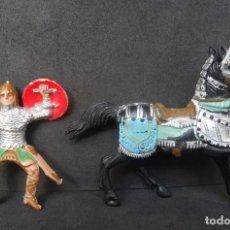 Figuras de Borracha e PVC: REAMSA REY ARTURO-RICARDO CORAZON FIGURA A CABALLO 1. Lote 267507914
