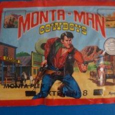 Figuras de Goma y PVC: SOBRE LLENO DE MONTA MAN MONTAPLEX COWBOYS OESTE MIRAR FOTOS LOTE 1. Lote 267612084