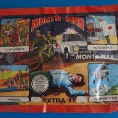 Figuras de Goma y PVC: SOBRE LLENO DE MONTA MAN MONTAPLEX CRUZ ROJA MIRAR FOTOS LOTE 1. Lote 267613284