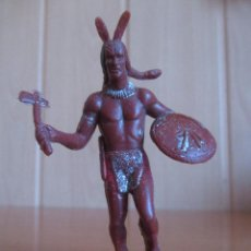 Figuras de Goma y PVC: FIGURA ANTIGUA INDIO OESTE , 8 CM , PIPERO ( PECH , JECSAN , REAMSA , COMANSI , ETC). Lote 267613749