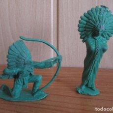 Figuras de Goma y PVC: LOTE 2 FIGURAS ANTIGUAS INDIOS , PIPERO ( PECH , JECSAN , REAMSA , PIPERO , COMANSI ,). Lote 267615514