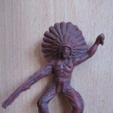 Figuras de Goma y PVC: FIGURA ANTIGUA INDIO OESTE , PIPERO ( PECH , JECSAN , REAMSA , COMANSI , ETC). Lote 267618379