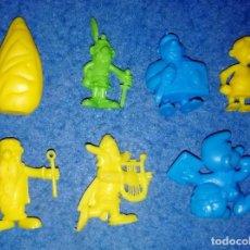 Figuras de Goma y PVC: LOTE FIGURAS DUNKIN ASTERIX Y OBELIX PHOSKITOS. Lote 267688129