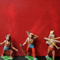 Figuras de Goma y PVC: INDIOS GOMA TEIXIDO. Lote 267827959