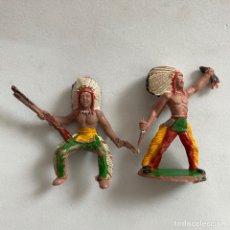 Figuras de Goma y PVC: FIGURAS INDIOS MANUEL SOTORRES JEFE INDIO. Lote 267894579
