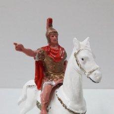 Figuras de Goma y PVC: CENTURION - LEGIONARIO ROMANO A CABALLO . FIGURA OLIVER . ORIGINAL AÑOS 60 / 70. Lote 268573269