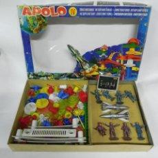 Figuras de Goma y PVC: CAJA APOLO IV CONSTRUCCIONES INTERPLANETARIAS FIGURAS DE ASTRONAUTAS, DE AIRGAM, AÑOS 6,0 CON SU CAJ. Lote 268586299