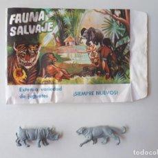 Figuras de Goma y PVC: SOBRE MONTAPLEX FAUNA SALVAJE Nº214 ABIERTO CON FIGURAS ANIMALES. Lote 268755999