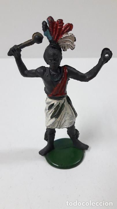 Figuras de Goma y PVC: GUERRERO AFRICANO . REALIZADO POR GAMA . SERIE GRANDE . AÑOS 50 EN GOMA - Foto 2 - 268764114