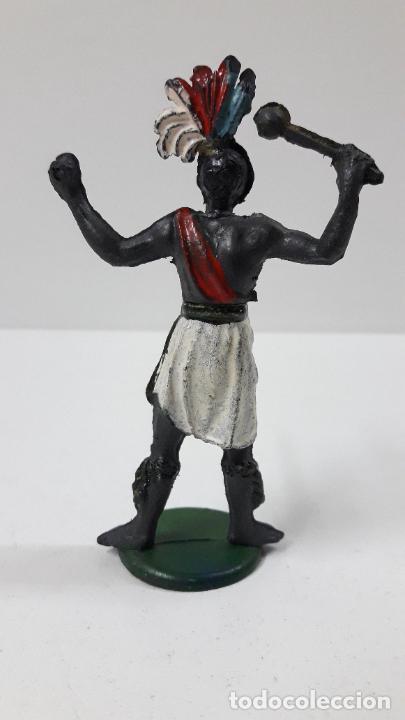 Figuras de Goma y PVC: GUERRERO AFRICANO . REALIZADO POR GAMA . SERIE GRANDE . AÑOS 50 EN GOMA - Foto 3 - 268764114