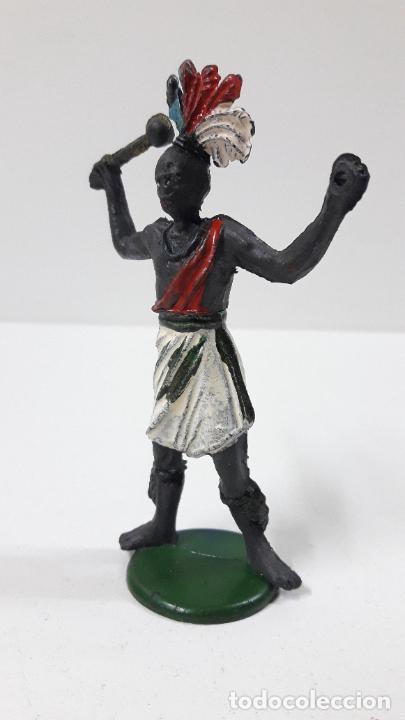 Figuras de Goma y PVC: GUERRERO AFRICANO . REALIZADO POR GAMA . SERIE GRANDE . AÑOS 50 EN GOMA - Foto 4 - 268764114
