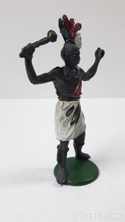 Figuras de Goma y PVC: GUERRERO AFRICANO . REALIZADO POR GAMA . SERIE GRANDE . AÑOS 50 EN GOMA - Foto 5 - 268764114