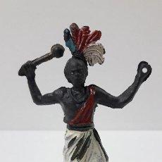 Figuras de Goma y PVC: GUERRERO AFRICANO . REALIZADO POR GAMA . SERIE GRANDE . AÑOS 50 EN GOMA. Lote 268764114