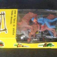 Figuras de Goma y PVC: JECSAN FEDERALES Y CONFEDERADOS CAJA ALARGADA. Lote 268787214