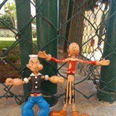 Figuras de Goma y PVC: FIGURAS DE PVC FLEXIBLE POPEYE Y OLIVIA DE VICMA PINTURA MAL CONSERVADA. Lote 268817794