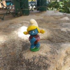 Figuras de Goma y PVC: FIGURA DE PVC PITUFO. Lote 268828844