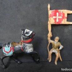Figurines en Caoutchouc et PVC: REAMSA CRUZADOS MEDIEVAL A CABALLO REF 126. Lote 268870054