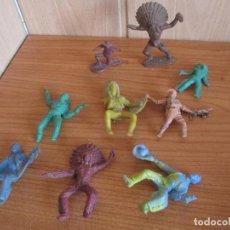 Figuras de Goma y PVC: LOTE 9 FIGURAS ANTIGUAS INDIOS VAQUEROS, PIPERO ( PECH , JECSAN , REAMSA , OLIVER , COMANSI , ETC). Lote 268878209