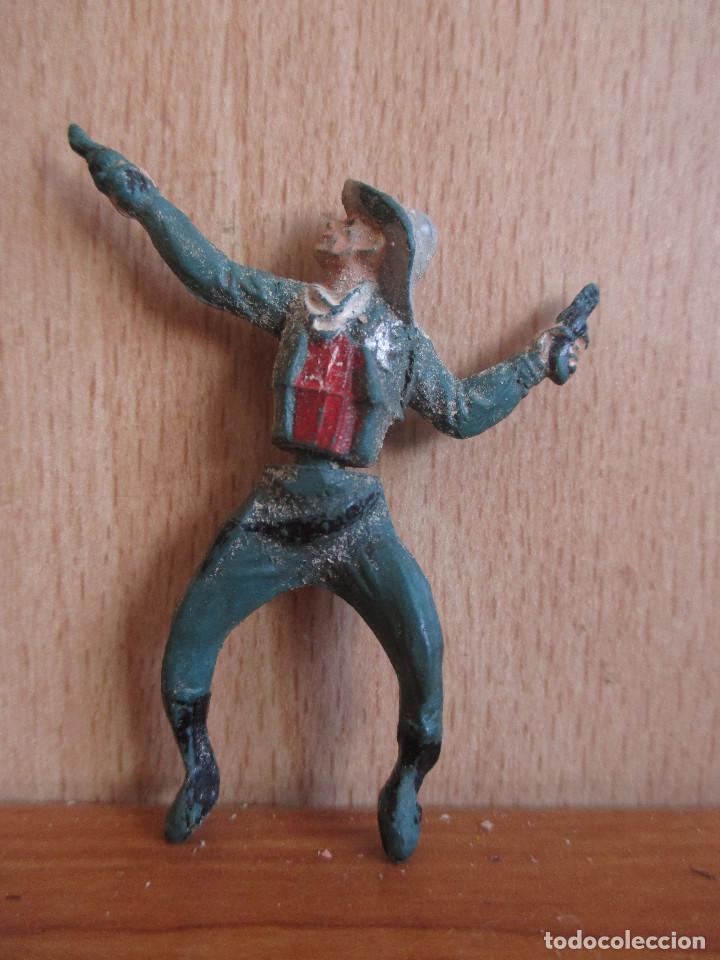 FIGURA ANTIGUA GOMA SHERIFF OESTE , GAMA ( PECH , JECSAN , REAMSA , COMANSI , ETC) (Juguetes - Figuras de Goma y Pvc - Gama)