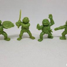 Figuras de Goma y PVC: 4 FIGURAS TORTUGAS NINJA YOLANDA 1983 5.5 CENTIMETROS. Lote 268987369
