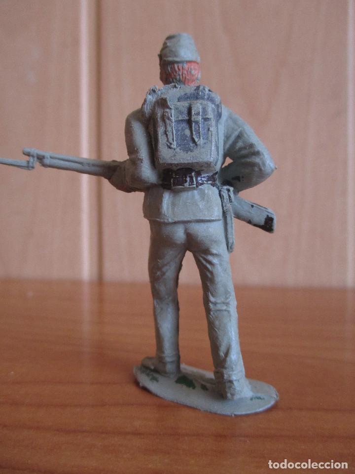 Figuras de Goma y PVC: FIGURA ANTIGUA SOLDADO CONFEDERADO ( PECH , JECSAN , REAMSA , OLIVER , COMANSI , ETC) - Foto 2 - 269046718