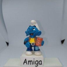 Figuras de Goma y PVC: PITUFO CON LATA - REFRESCO LIMÓN - SCHLEICH. Lote 269098173
