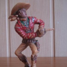 Figuras de Goma y PVC: FIGURA ANTIGUA VAQUERO OESTE , SERIE GRANDE LAFREDO ( PECH , JECSAN , REAMSA , COMANSI , ETC). Lote 269107073