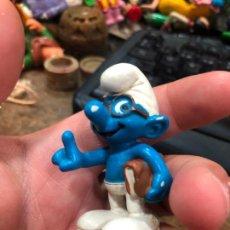 Figuras de Goma y PVC: ANTIGUO MUÑECO GOMA PVC - LOS PITUFOS - SCHLEICH - MEDIDA 5,5 CM. Lote 269124503