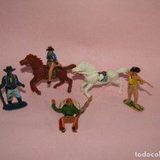 Figuras de Goma y PVC: ANTIGUO LOTE DE FIGURAS OESTE AMERICANO EN PLÁSTICO DE JECSAN Y OTROS. Lote 269128648