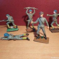 Figuras de Goma y PVC: PECH HERMANOS. 5 SOLDADOS RUSOS. NO JECSAN. NO REAMSA.. Lote 269136938
