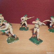 Figuras de Goma y PVC: PECH HERMANOS. 5 SOLDADOS INGLESES. NO JECSAN. NO REAMSA.. Lote 269137033