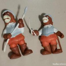 Figuras de Goma y PVC: OCASION COLECCIONISTAS ! DOS MUÑECOS FIGURAS GOMA PVC AÑOS 80 90 STAR TOYS BRB SOLDADOS DE DARTACAN. Lote 269274878