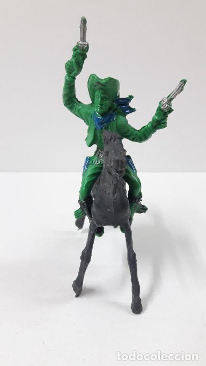 Figuras de Goma y PVC: VAQUERO - COWBOY A CABALLO . REALIZADO POR LAFREDO / REIGON . ORIGINAL AÑOS 60 - Foto 3 - 269335128
