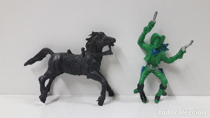 Figuras de Goma y PVC: VAQUERO - COWBOY A CABALLO . REALIZADO POR LAFREDO / REIGON . ORIGINAL AÑOS 60 - Foto 5 - 269335128