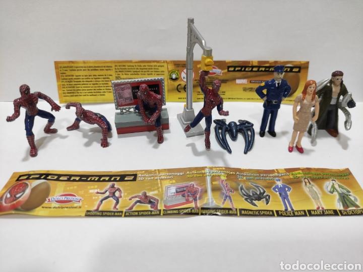 LOTE 8 FIGURAS SPIDER-MAN SPIDERMAN 2 COLECCIÓN COMPLETA ESTILO KINDER HUEVOS SORPRESA MUÑECOS PVC (Juguetes - Figuras de Gomas y Pvc - Kinder)