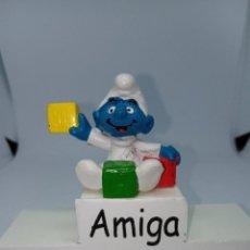 Figuras de Goma y PVC: PITUFO BEBE CON CUBOS - JUGANDO - SCHLEICH. Lote 269383193