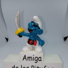 Figuras de Goma y PVC: PITUFO PIRATA - CON ESPADA - SCHLEICH. Lote 269383308