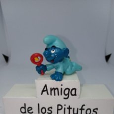 Figuras de Goma y PVC: PITUFO BEBE AZUL OSCURO - TURQUESA - SCHLEICH. Lote 269384343