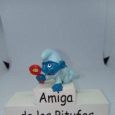 Figuras de Goma y PVC: PITUFO BEBE CELESTE - VARIANTE - SCHLEICH. Lote 269384478