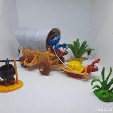 Figuras de Goma y PVC: CARAVANA DE LOS PITUFOS - COMPLETA - SCHLEICH. Lote 269449513