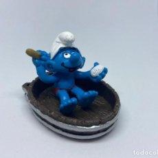 Figuras de Goma y PVC: PITUFO DUCHANDOSE - NUEVO - SCHLEICH. Lote 269452793