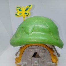 Figuras de Goma y PVC: CASA PEQUEÑA DE LOS PITUFOS - COMPLETA - TECHO VERDE - SCHLEICH. Lote 269476493
