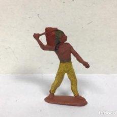 Figuras de Goma y PVC: FIGURA INDIO REAMSA GOMA AÑOS 50 WESTERN OESTE COWBOY NO PECH JECSAN LAFREDO TEIXIDO COMANSI. Lote 269502188