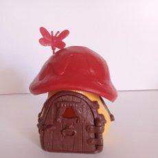 Figuras de Goma y PVC: CASA DE PITUFOS - COMPLETA - TECHO ROJO - SCHLEICH -. Lote 269638253