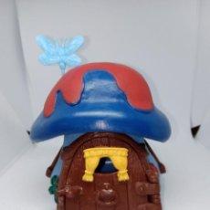 Figuras de Goma y PVC: CASA DE PITUFOS - COMPLETA - TECHO ROJO Y AZUL - SCHLEICH -. Lote 269638803