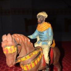 Figuras de Goma y PVC: MORO LANCERO - FIGURA DE GOMA - REAMSA - AÑOS 50 - 7,5 X 8 CMS.. Lote 269699828