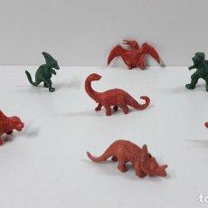 Figuras de Goma y PVC: ANTIDILUVIANOS . ANIMALES PREHISTORICOS . TIPO DUNKIN . ORIGINAL AÑOS 70 / 80. Lote 269809408