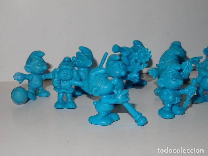 Figuras de Goma y PVC: (M) DUNKIN SERIE PITUFO - LOTE DE 14 FIGURAS DIFERENTES DE LOS PITUFOS, BUEN ESTADO - Foto 3 - 269813443